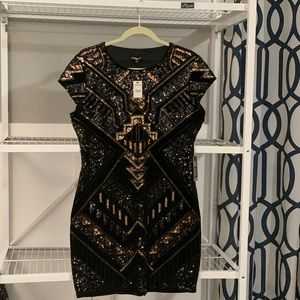 BNWT Express sequin mini dress